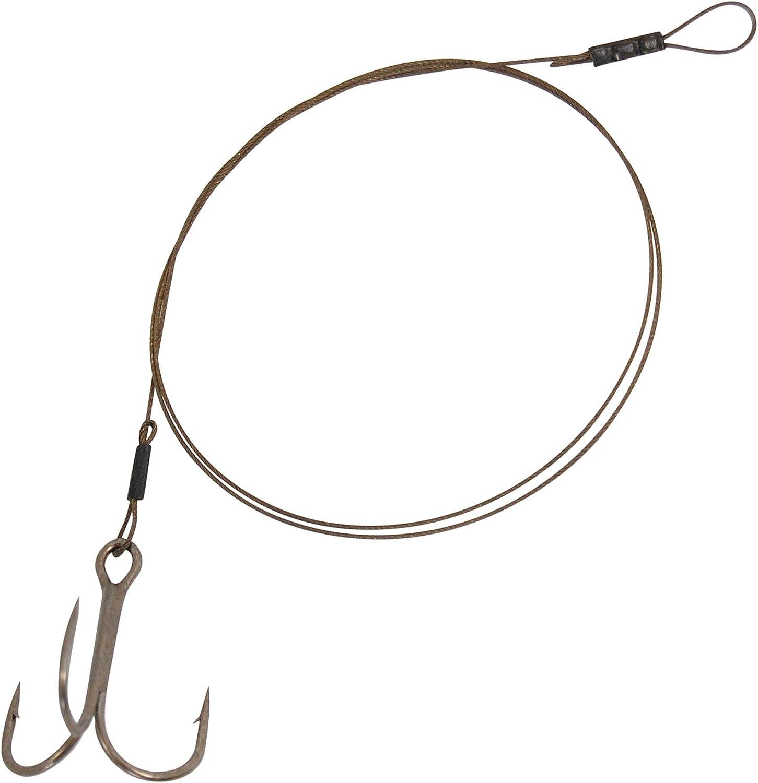 Spro Pike Fighter Treble Hook Trace- Stahlvorfach mit Drillingshaken zum Angeln mit K/öderfisch 1 L/änge//Tragkraft//Hakengr/ö/ße:50cm // 18.2kg // Gr Vorfach zum Hechtangeln Vorf/ächer