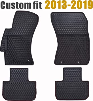 2014-2017 Subaru Forester All weather Heavy gauge Rubber floor mats Black OEM