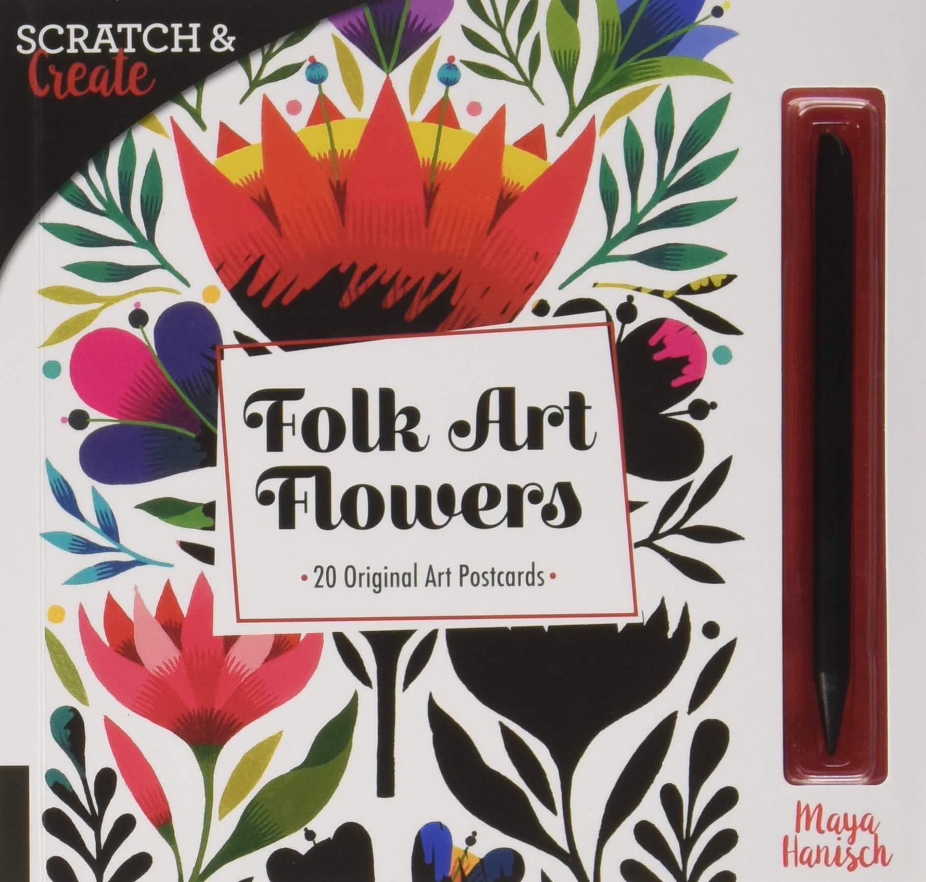 Download Scratch & Create Folk Art Flowers: 20 Original Art Postcards pdf epub