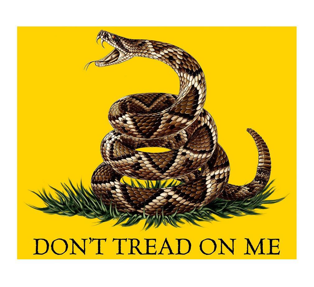 Erazor Bits Patriotic Blanket Soft Cozy Fleece Throw -DON'T TREAD ON ME- Political Gift-50 X 60 Inches