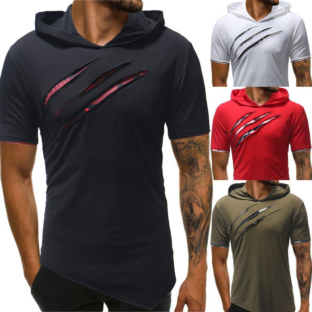 b83a4eb24a ZODOF Camisetas Hombre Verano,Ropa Deportivas Hombre,Sudaderas con Capucha  Casual Hombre,Camiseta de Manga Corta ...