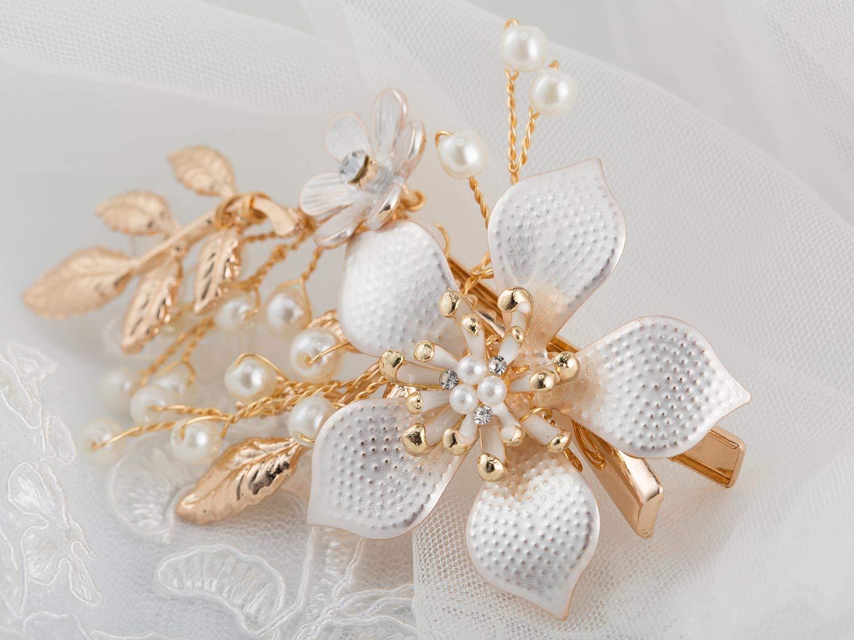Kristal Hochzeit Braut Brautjungfer Perle Kopfstück Hairpin Haarnadel Haarspange
