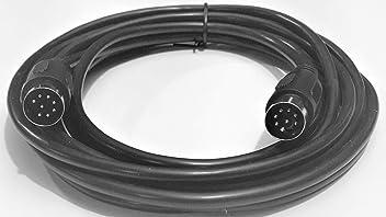 Mini Din mdin 8 Pin Heavy Duty Oversize Wire Double Shield 10 ft male male Cable