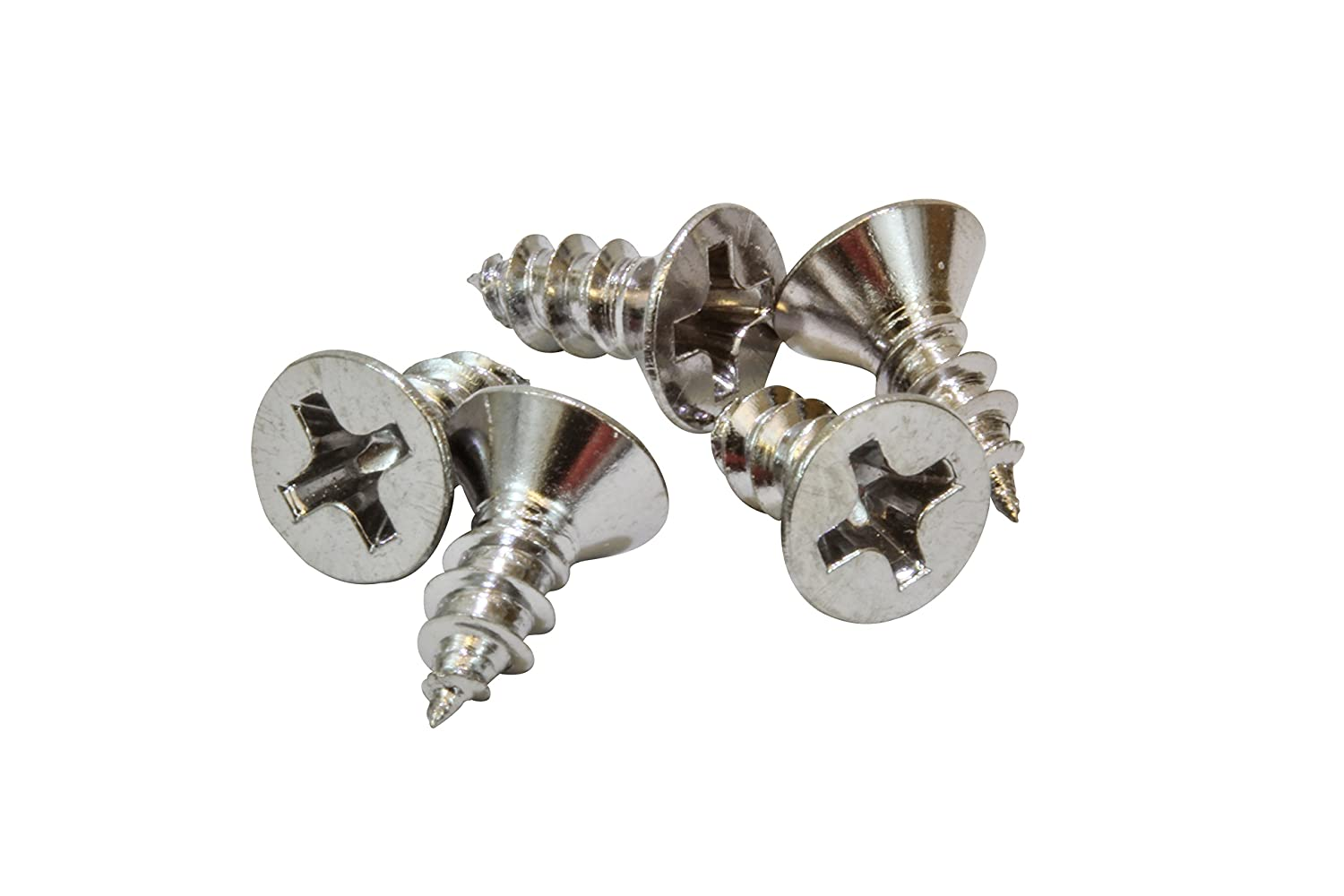304 18-8 100 pc Stainless Steel Screw by Bolt Dropper #6 X 5//8 Chrome Coated Stainless Flat Head Phillips Wood Screw,