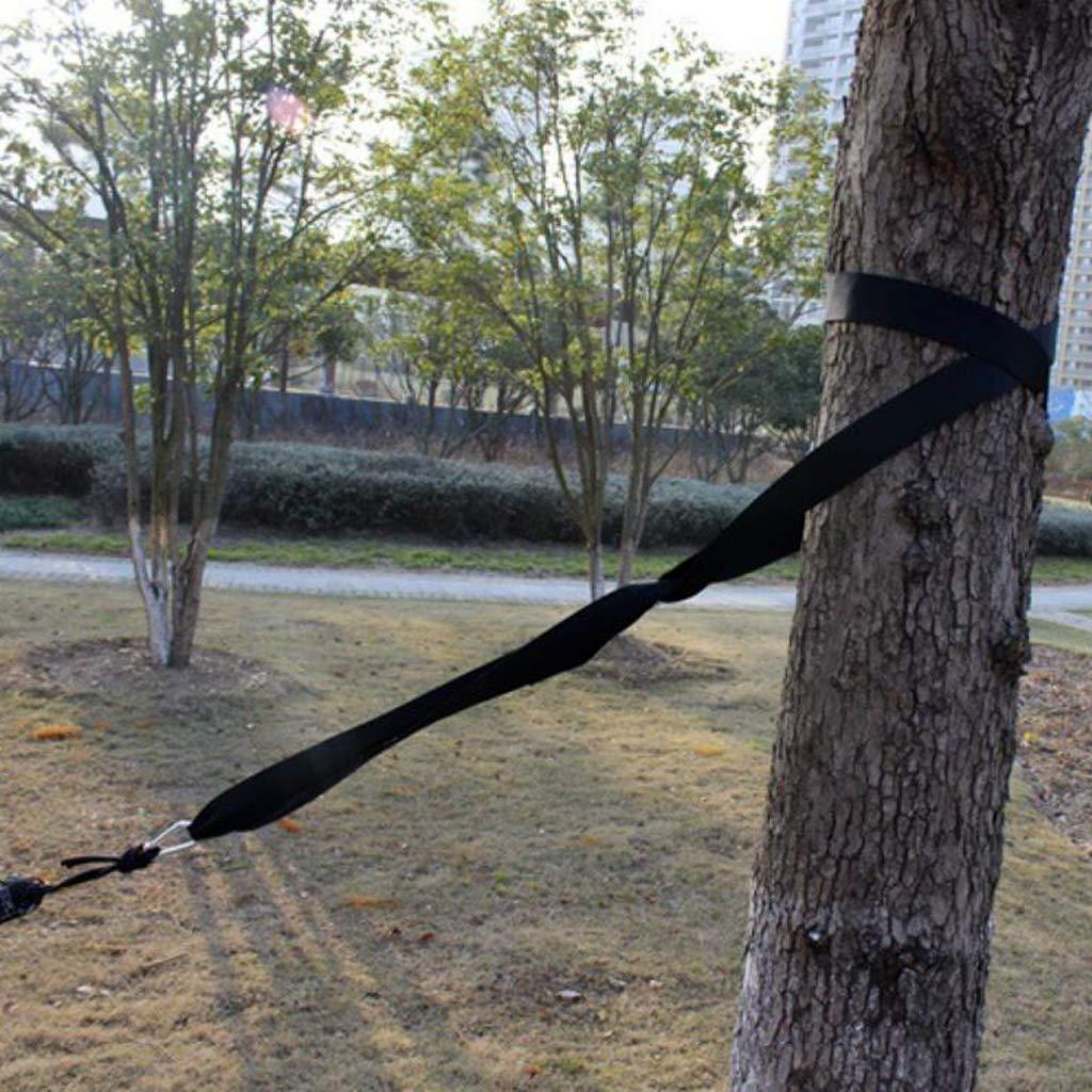 B Baosity 2PCS Nylon Hanging Hammock Tree Straps Belt Suspension System Kit With 2 Carabiner Buckle Hooks