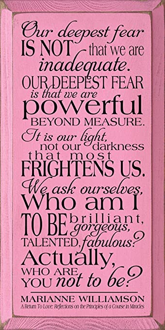 Marianne Williamson Wall Art - Our deepest fear is not that we are inadequate.  sc 1 st  Amazon.com & Amazon.com: Marianne Williamson Wall Art - Our deepest fear is not ...
