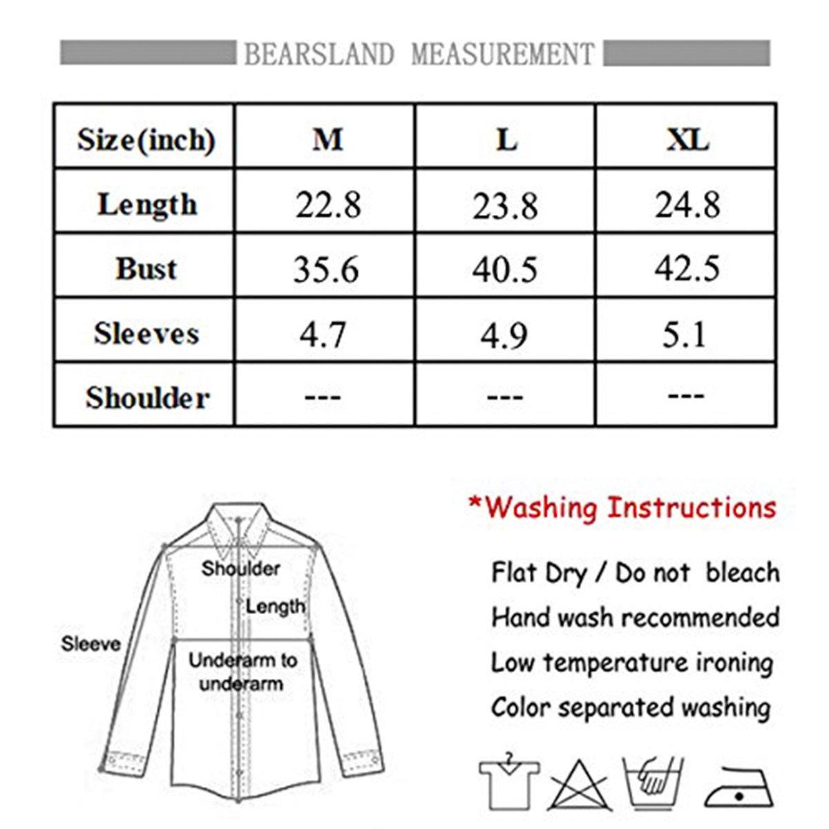 Bearsland Womens Maternity Short Sleeves Nursing Tops Breastfeeding Shirts