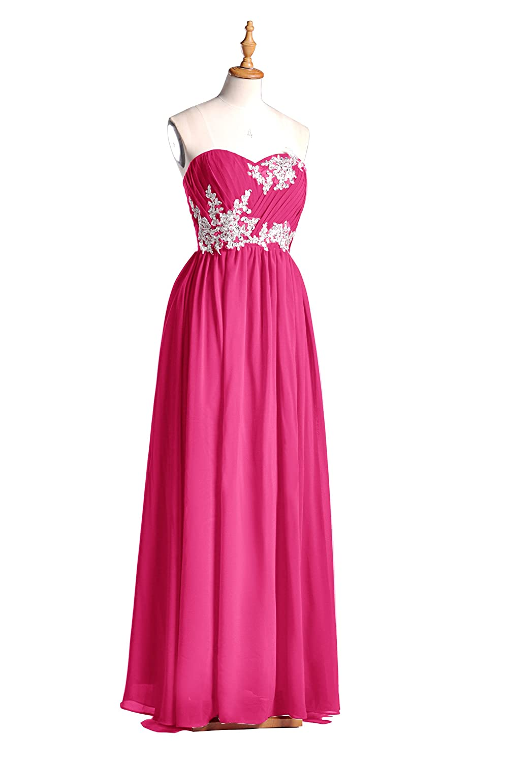 99Gown Bridesmaid Dress Long Special Occasion Gown Formal Dresses For Women Lace Prom Dresses, Color Fuschia, 10 at Amazon Womens Clothing store: