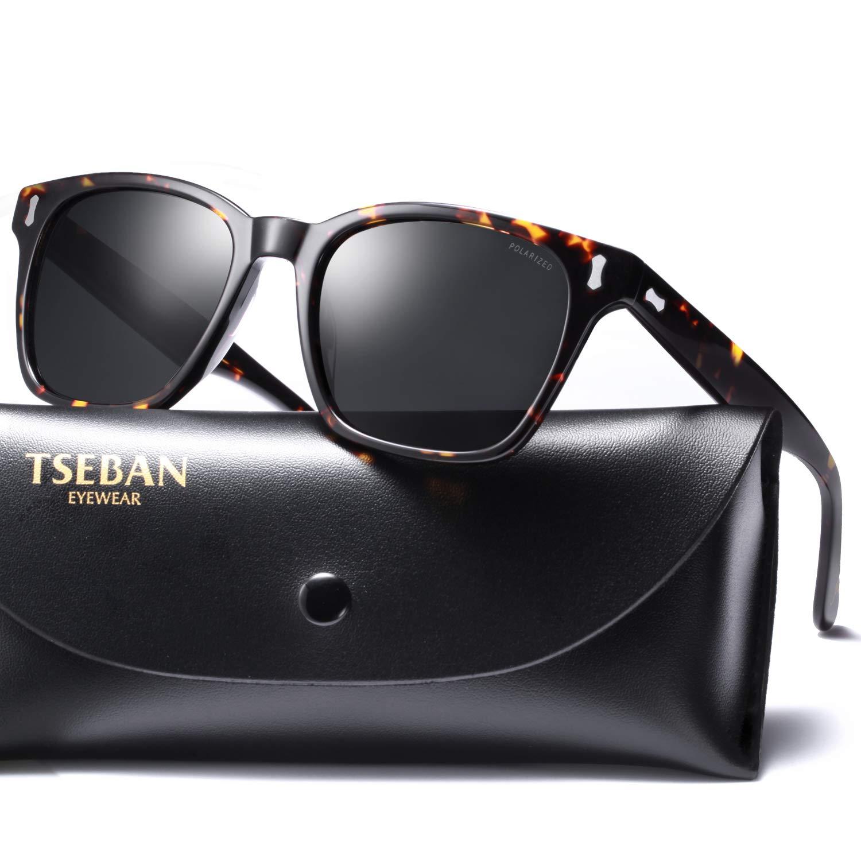 TSEBAN Retro Polarizada Gafas de sol Hombre de Conducción UV400 Protección Aptos Para Golf Outdoor Sport Pesca