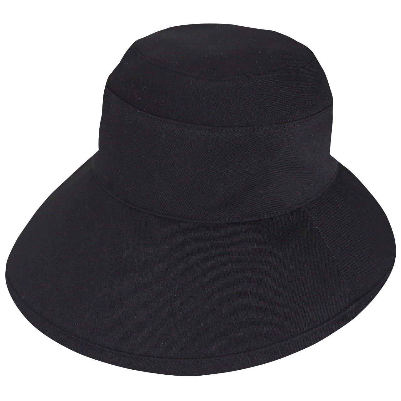 Rose Blanc(ロサブラン) 100%完全遮光 帽子 プレーンハット12cm (通気性タイプ) Sサイズ B07BFQSLJX ブラック ブラック