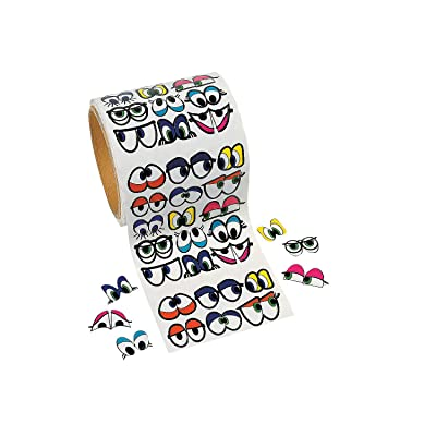 Fun Express - Cute Colored Eye Stickers- 1005 Pcs - Stationery - Stickers - Stickers - Roll - 1 Piece: Toys & Games