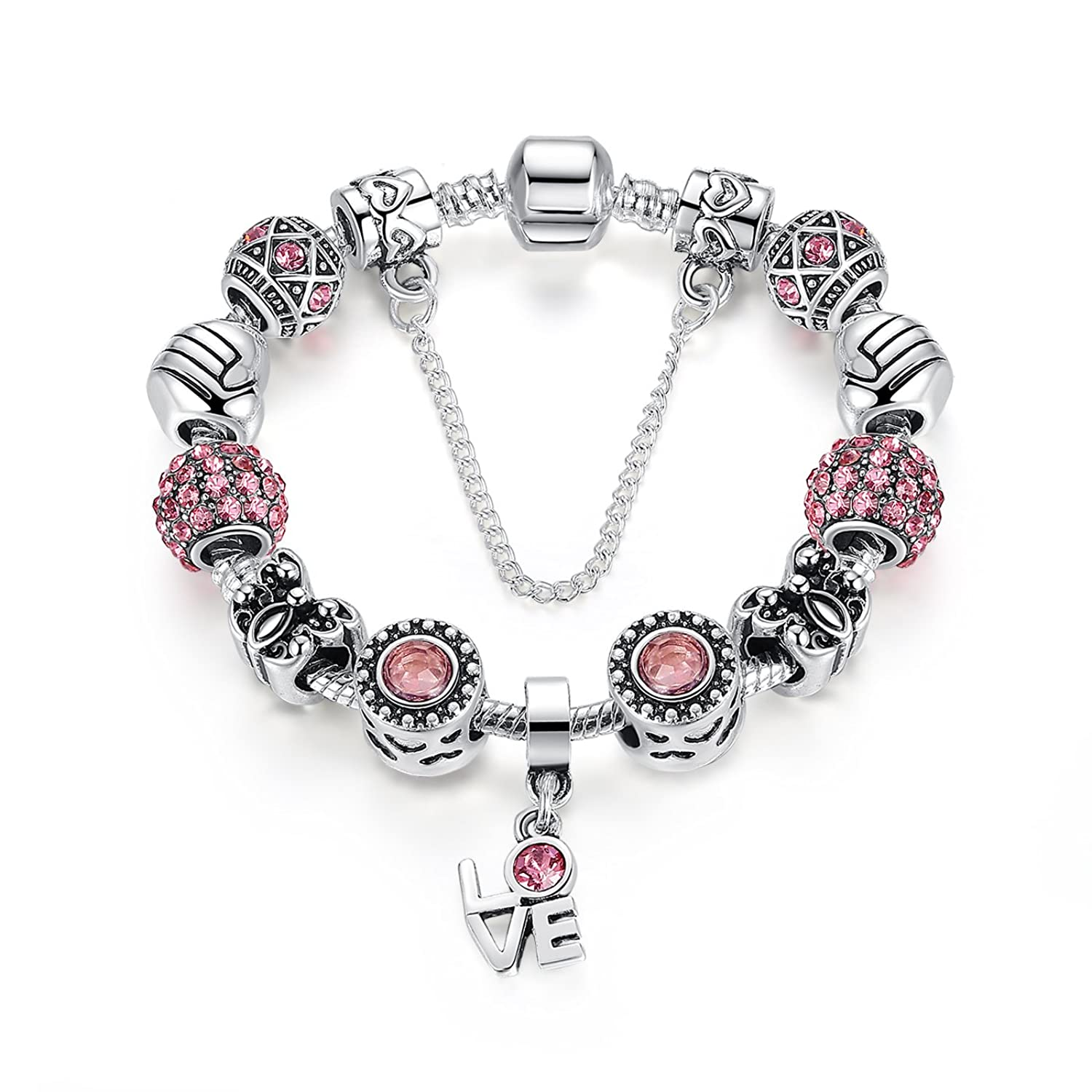 shaped asset the pink transformation chronically charm products bracelet heart fabulous leather