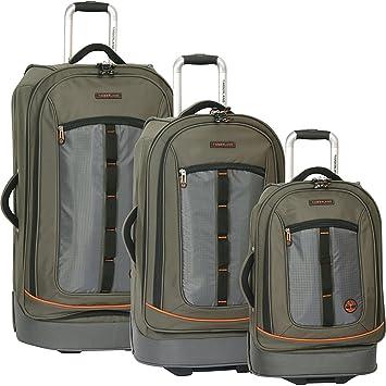 f2578efa020 Amazon.com | Timberland Jay Peak 3 Piece Luggage Set (Burnt Olive) | Luggage  Sets