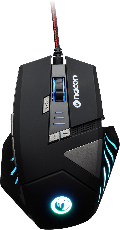 Nacon - Ratón Gaming PCGM-300, 8 Botones, 250 A 2500 DPI, USB Plug 'N' Play, 1.8 Metros (PC)