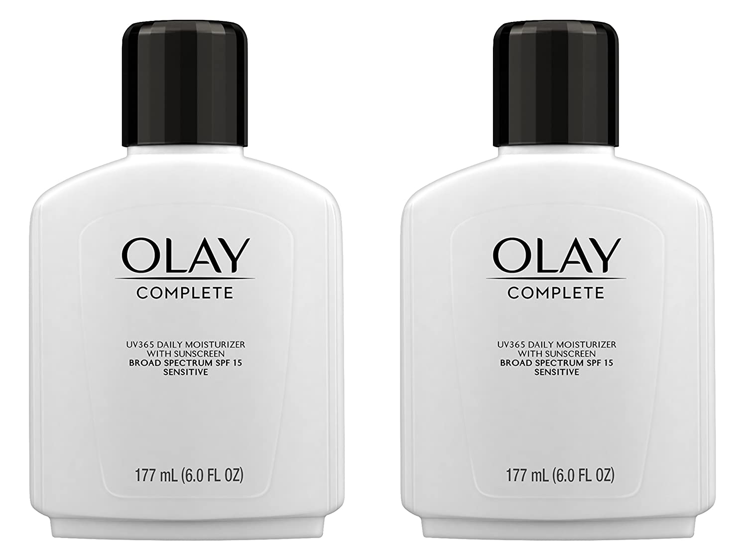 Olay Complete Lotion All Day Moisturizer with SPF 15 for Sensitive Skin, 6.0 fl oz (Pack of 2) P&G NA