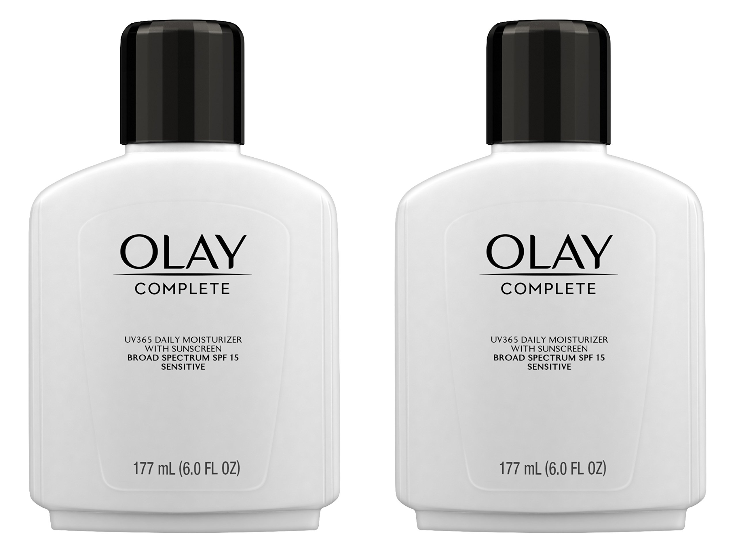 Face Moisturizer by Olay Complete Lotion All Day Moisturizer with SPF 15 for Sensitive Skin, 6.0 fl oz (Pack of 2) by Olay
