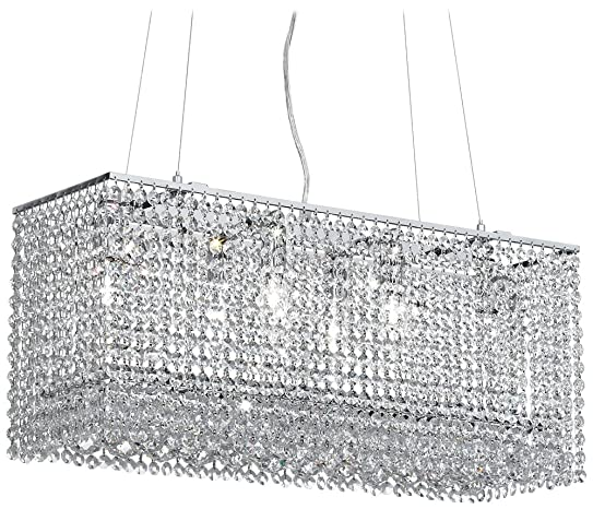 James R. Moder Vesta 6-Light Imperial Crystal Chandelier - Linear ...