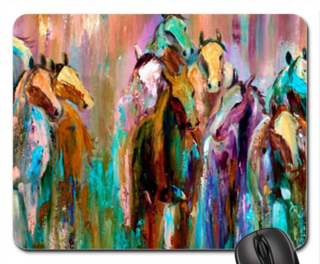 Amazon.com: abstract horse herd f1 mouse pad, mousepad (horses ...