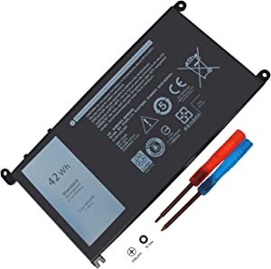 42WH WDX0R FC92N 3CRH3 T2JX4 CYMGM Battery Compatible with Dell Inspiron 13 5368 5378 5379 7368 7378 17 5765 5767 5770 Inspiron 14-7460 Inspiron 15 5565 5567 5568 5578 7560 7570 7579 7569 P58F