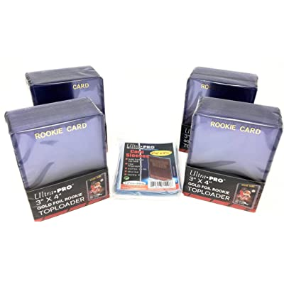UltraPro 100 Rookie Card Toploaders + 100 Penny Sleeves Bundle: Sports & Outdoors