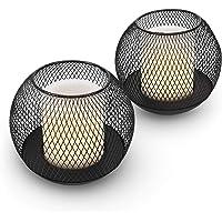 Navaris Set de 2X Farol Solar LED - Faroles solares de Exterior - Lámparas solares para iluminación de jardín Piscina…