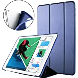 ORIbox Case for iPad Air 3rd 10.5''(2019)/iPad Pro 2nd 10.5''(2017), Lightweight Trifold Stand Smart Cover with Auto Sleep/Wake Function, Soft TPU Back Cover, 10.5 Inch, Dark Blue