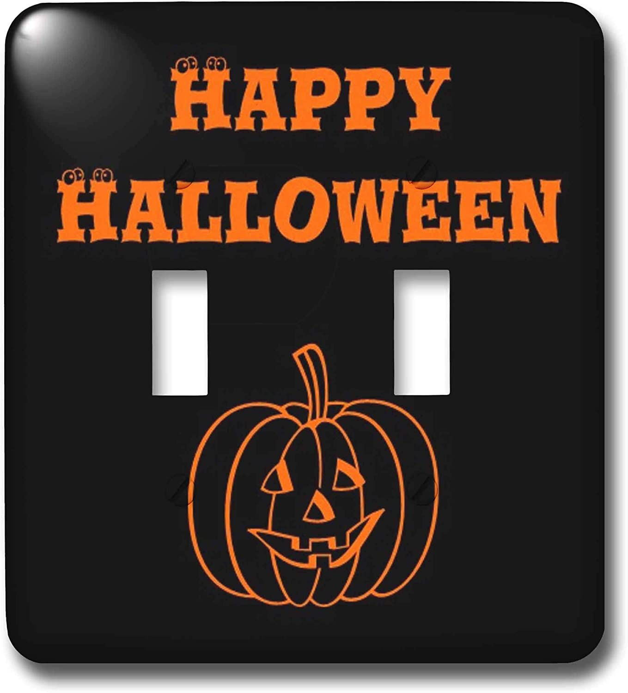 3drose Lsp 27867 2 Happy Halloween Pumpkin Toggle Switch Black Orange Switch Plates