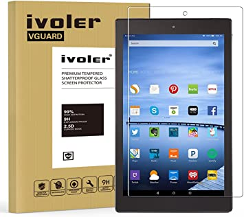 """Premium Tempered Glass Screen Protector for Amazon Kindle Fire hd 10 10.1/"""" 2015"""