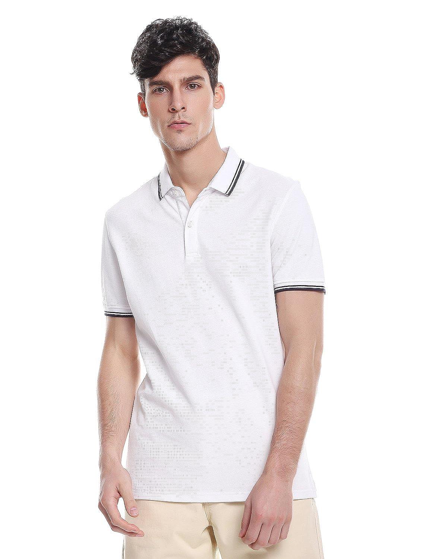 ZAN.STYLE Men's Short Sleeve Cotton Polo Shirt