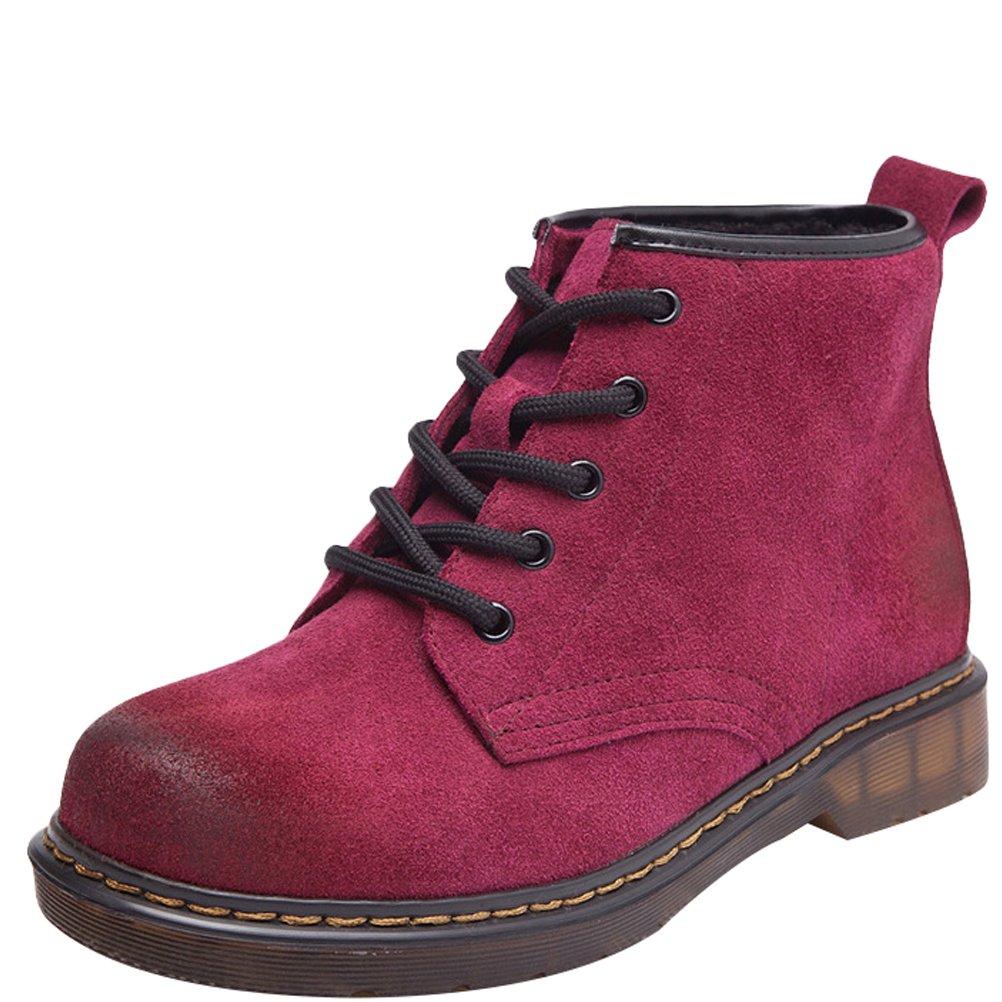 MatchLife Damen Erwachsene Lederstiefel Schnürhalbschuhe Kurzschaft Stiefel Stiefel Stiefel Winter Stiefel 84ab82