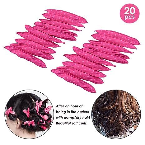 Locisne - 20 rizadores de pelo de esponja flexible, no se ...