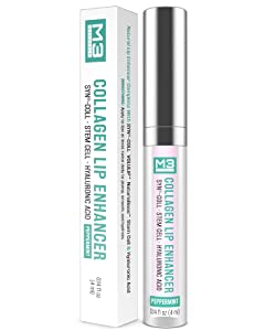 M3 Naturals Collagen Lip Enhancer with Hyaluronic Acid and Stem Cell Clinically Proven Natural Fuller Softer Lips Reduce Fine Lines Increase Volume Hydrating Gloss Treatment 4 ml