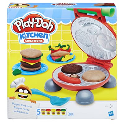 Play-Doh Burger Barbecue Set: Toys & Games