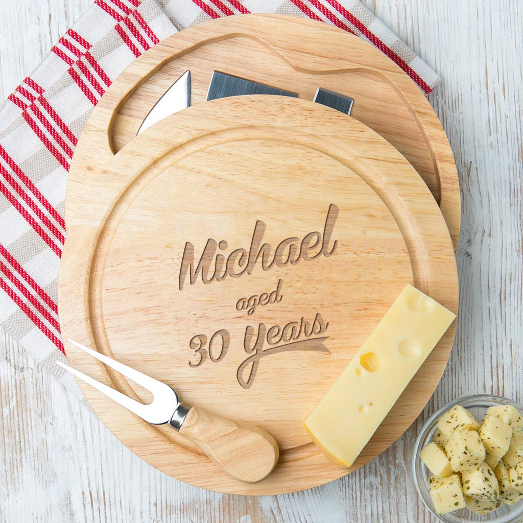 Personalised Cheese Board Set fun gift for him dad husband fathers day birthday