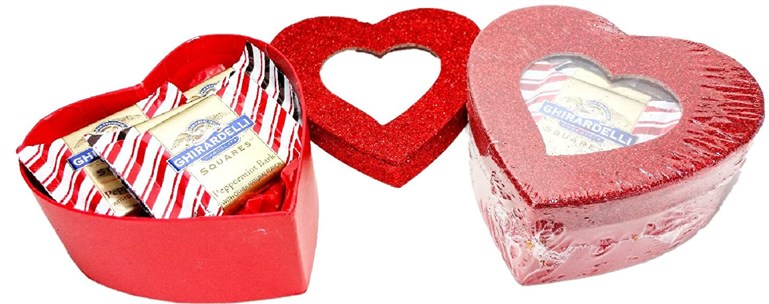 Amazon.com : Share the Love ~ Glitter Heart Shaped Boxes Filled with ...