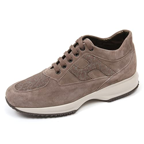C8448 sneaker donna HOGAN INTERACTIVE scarpa H spezzata marrone chiar shoe woman