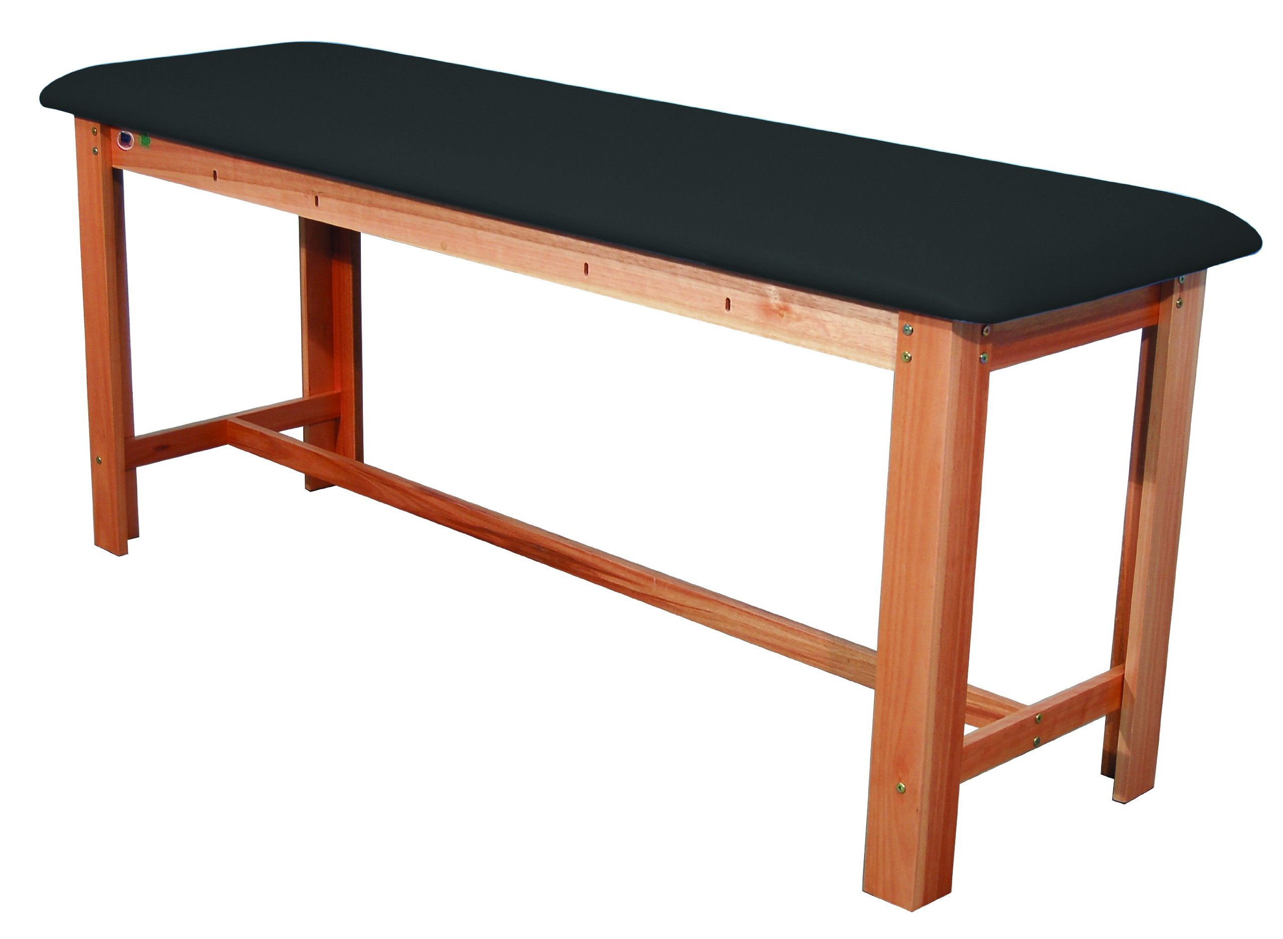 3B Scientific W15074B Black Hardwood Classic Exam Treatment Table with H-Brace, 74.8'' Length x 24.4'' Width x 33.1'' Height