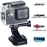 Somikon Action Kamera 4K: 4K-Action-Cam mit UHD-Video Bei 24 FPS, 16-MP-Sony-Sensor, IP68 (Actionkameras)