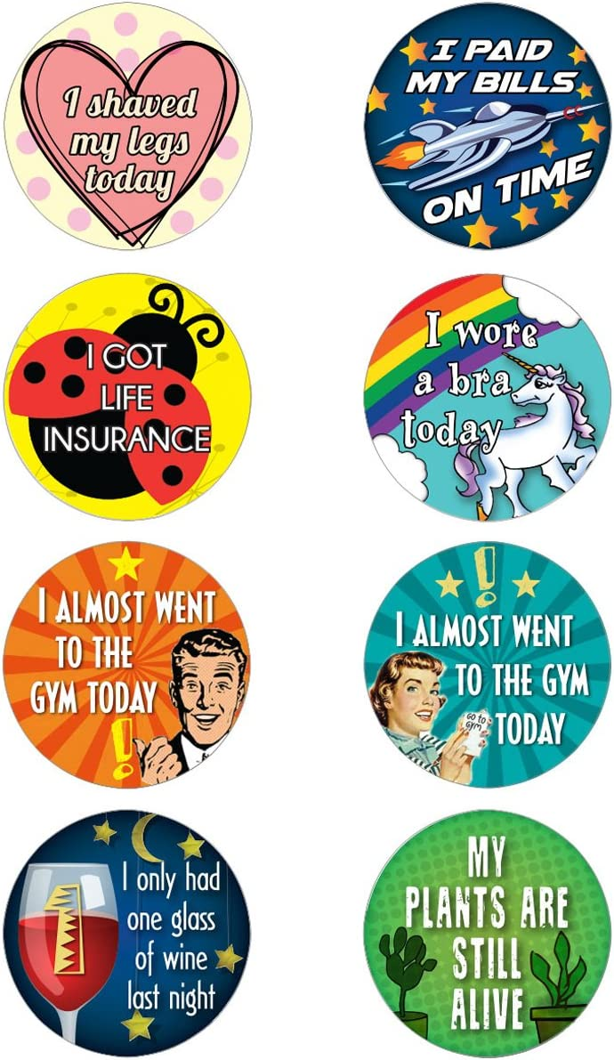 Lavley 16 Adult Achievement Stickers (Adulting) - Perfect Funny Gift for White Elephant Gifts, Hostess Gifts,, or Gag Gifts