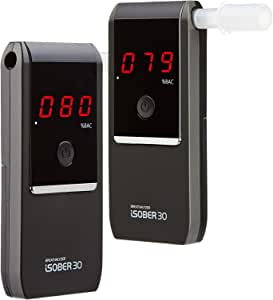 iSOBER 30 Breathalyzer | DOT, NHTSA Compliant | Suracell FuelCell Sensor Technology | Portable Alcohol Tester