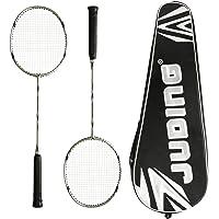Ancees Raquettes de Badminton, Graphite Badminton Raquette Set de Badminton Fibre de Carbone Y Compris 2 Badminton Racket avec 1 Sac