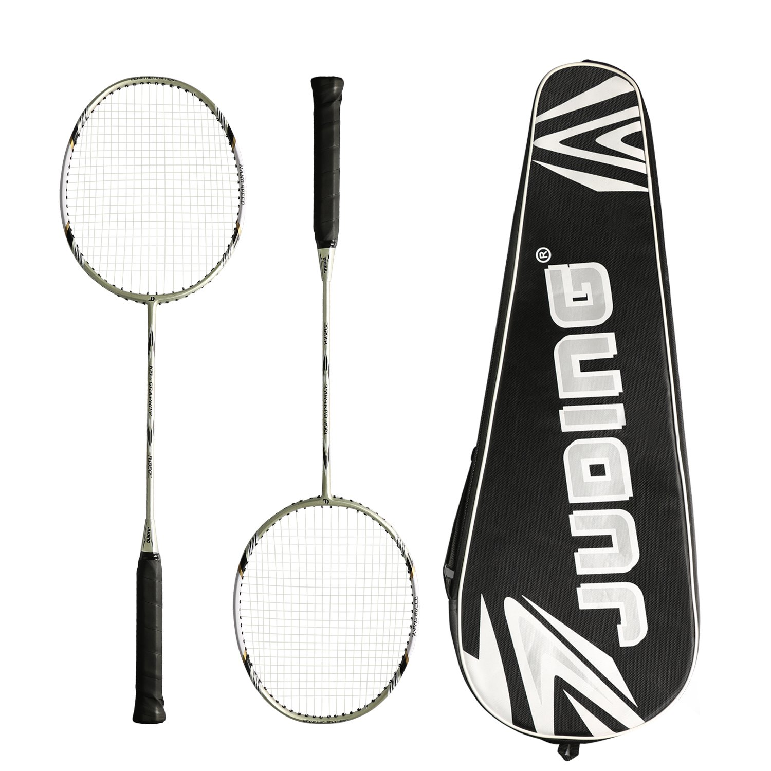 Ancees Badminton Rackets Set, Graphite Badminton Racquet 87+/-2 Gram Set - Including 1 Badminton Bag / 2 Rackets Ideal for Trainers, Amateurs and Beginners (Very Light)