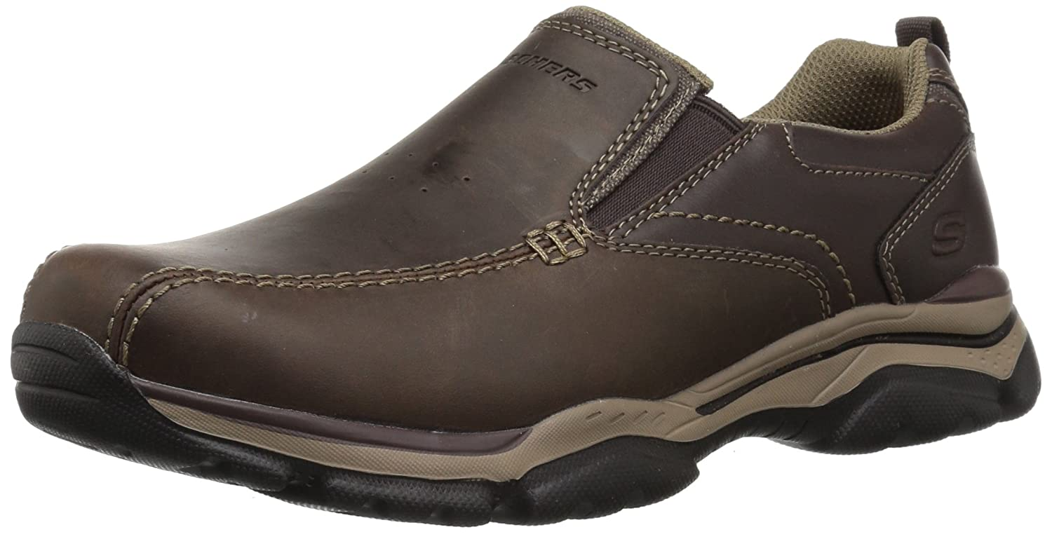 Skechers Rovato-Venten, Mocasines para Hombre 42.5 EU|Marrón (Dark Brown)