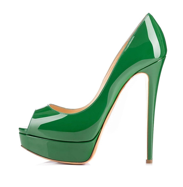 Soireelady - punta abierta Mujer 41 EU|Verde