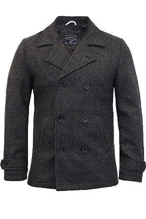 newest collection b5bef 2a7e4 Tokyo Laundry Herren Wolle -Mischung Jacke Tweed Kariert Zweireihiger  Trenchcoat