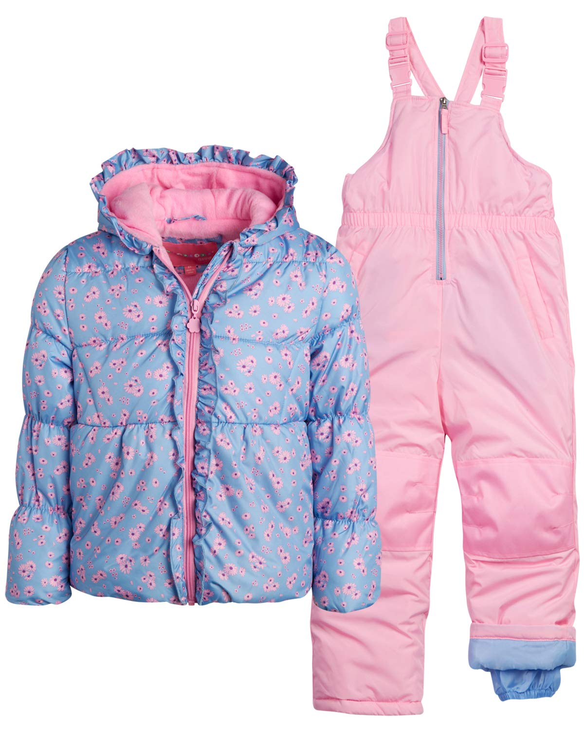 Wippette Little Girls' 2-Piece Heavyweight Snowsuit with Puffer Jacket and Snow Bib Pants, Size 5/6, Dusty Blue' by Wippette