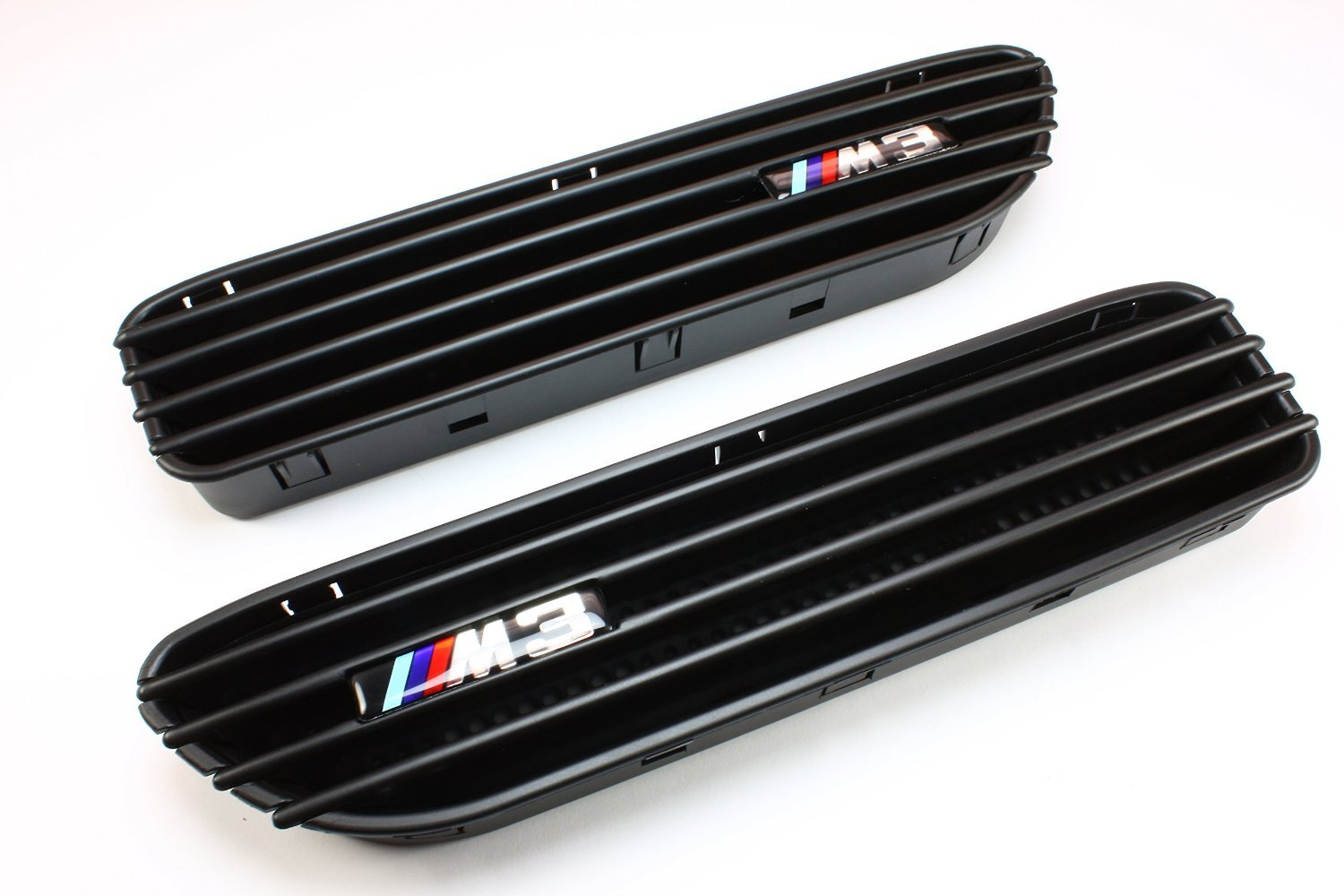 Z10 2001-2006 E46 M3 2D Front Grill with Side Fender Grill Vents Black