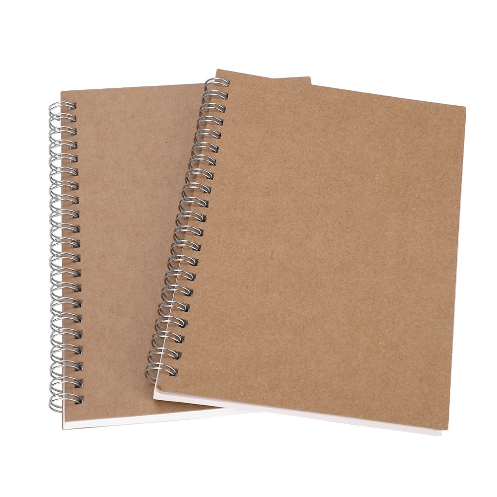 2 Packs Spiral Notebook Wirebound Hardcover Notebook Planner 2018-2019 Academic Year Daily Monthly Boost Productivity for Moms Teachers & Students Back to School College