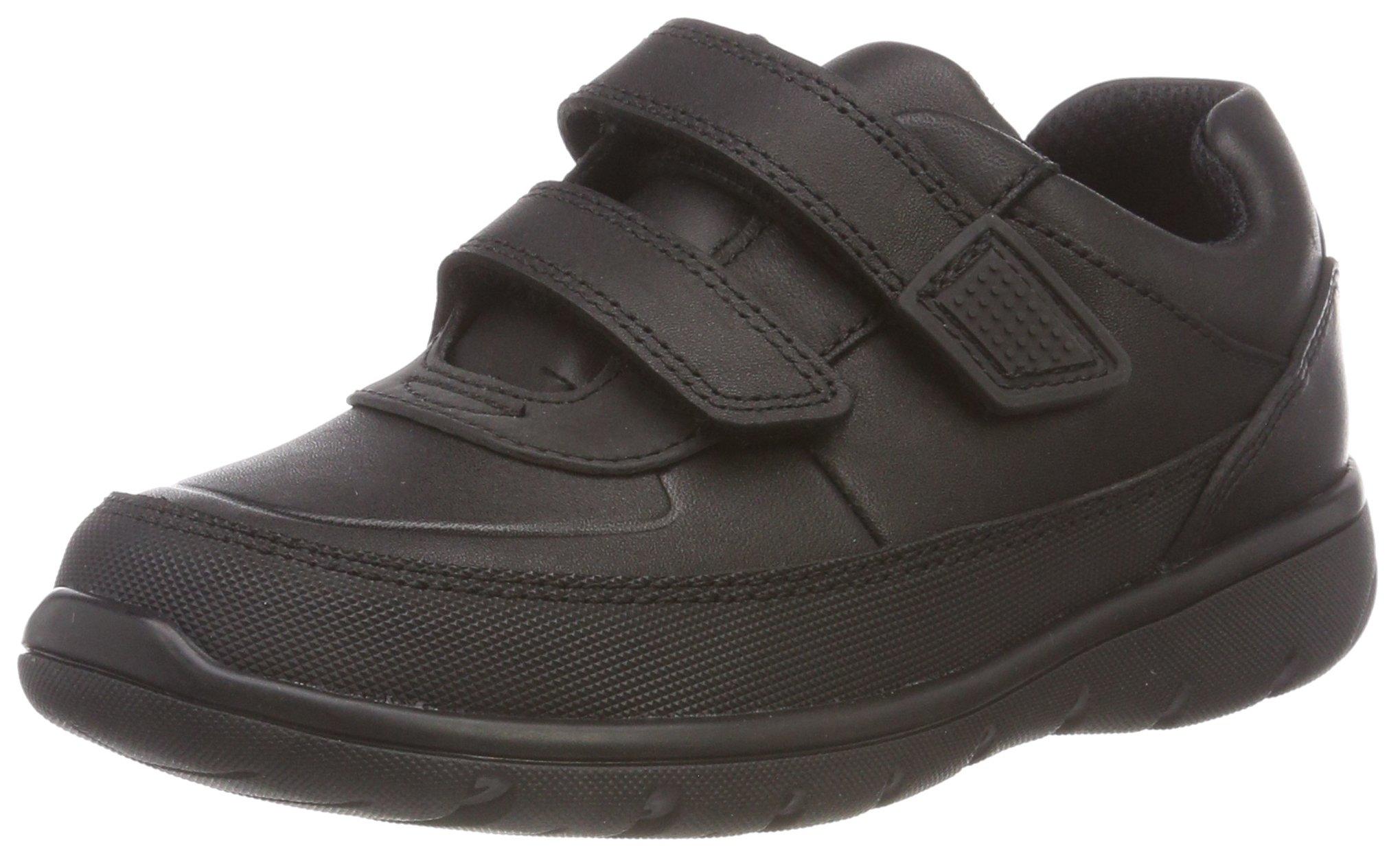 CLARKS Boys' Venture Walk Derbys, Black (Black Leather-), 1 UK