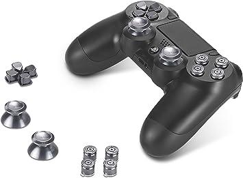 Supremery Playstation 4 DualShock 4 de Aluminio Botones Sombreros Thumbsticks Accesorios Piezas para PS4 (Bullet Negro): Amazon.es: Electrónica